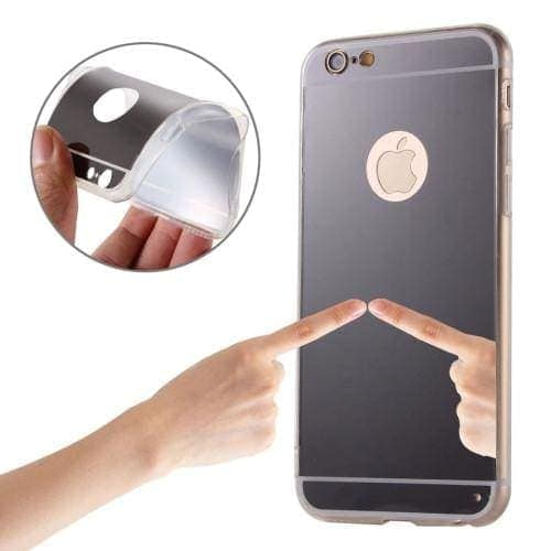 Etui do iPhone SE 2020/8/7 silikonowe srebrne lustro