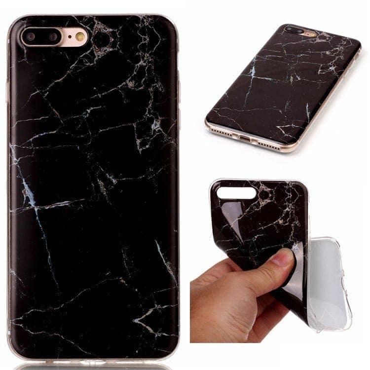 czarny marmurek iphone