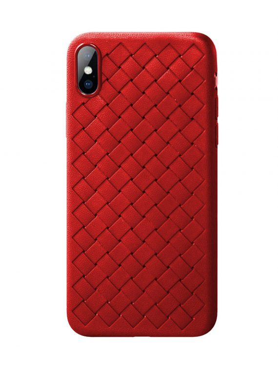 Etui Iphone X Xs Skórzane Czerwone