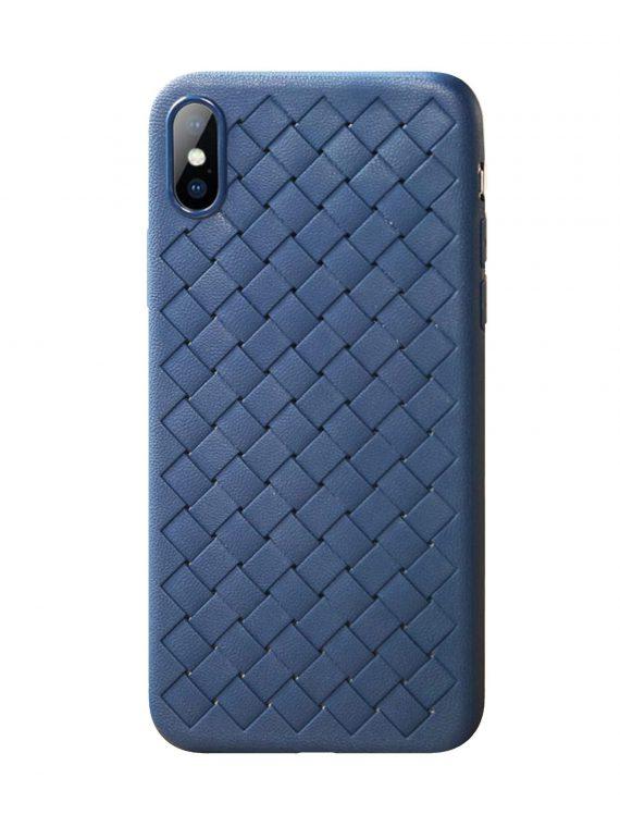 Etui Iphone X Xs Skórzane Niebieski