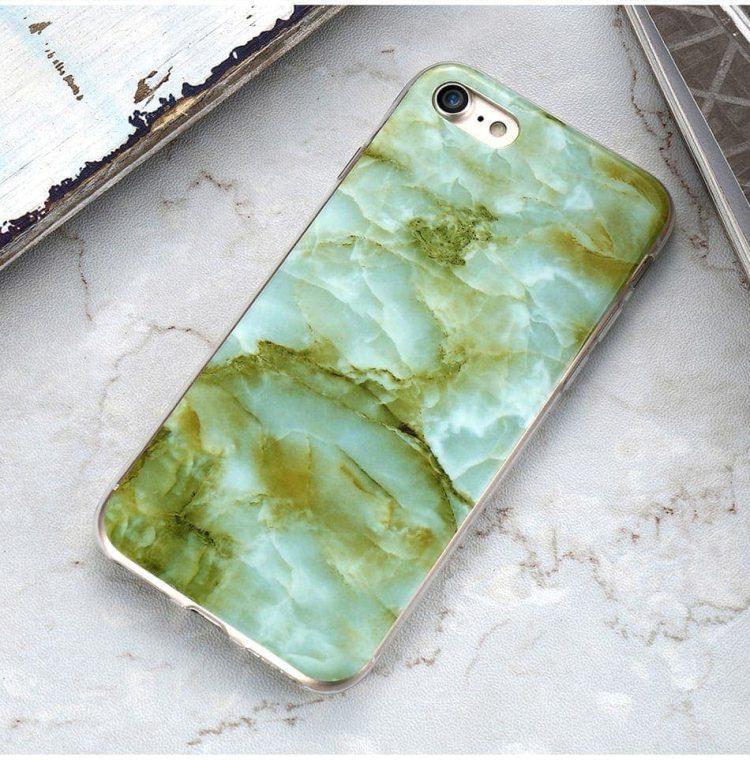 etui marmur zielony