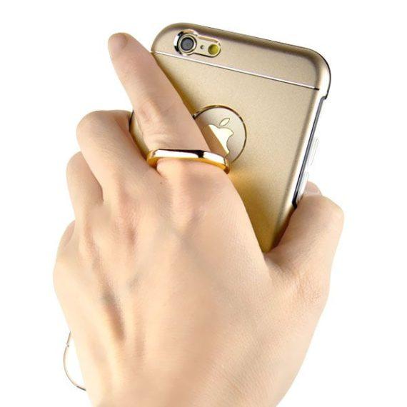 Etui do iPhone SE2020/8/7 z uchwytem praktyczne złote