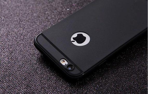Elastyczne cienkie etui do Iphone 6/6s – czarny silikonowy matowy case Iphone 6/6s