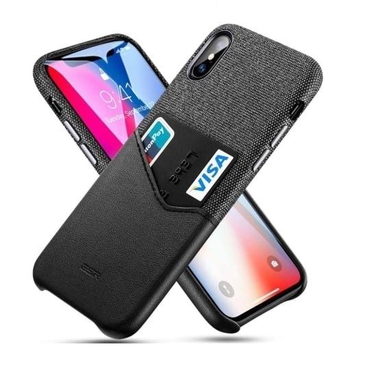 czarne skórzane etui iphone
