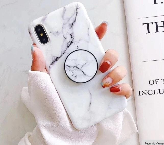 etui iphone biały marmur
