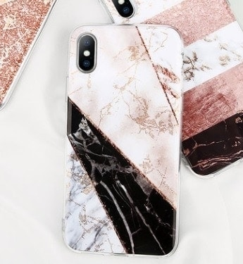 etui iphone zloty brokat