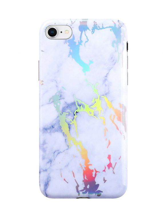 Etui Iphone 7 8 Laser Marmur Biały