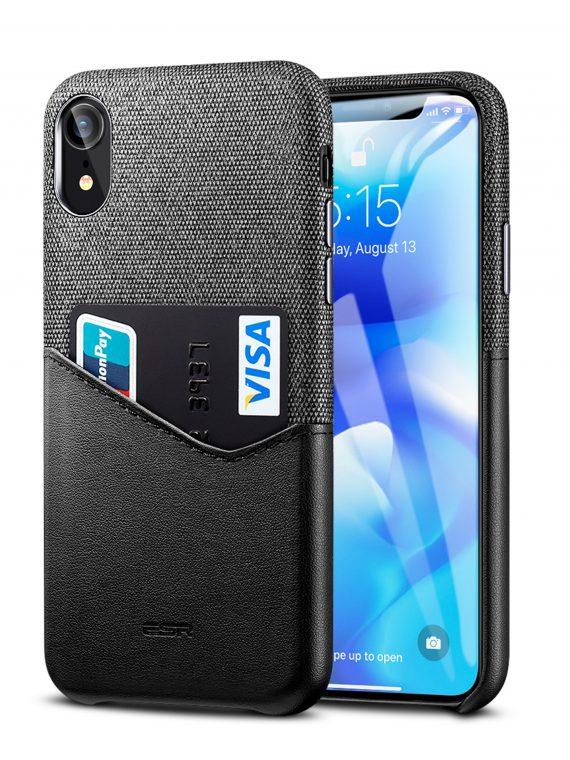 Etui Iphone X Xs Skorzane Czarne Z Kieszonka 7
