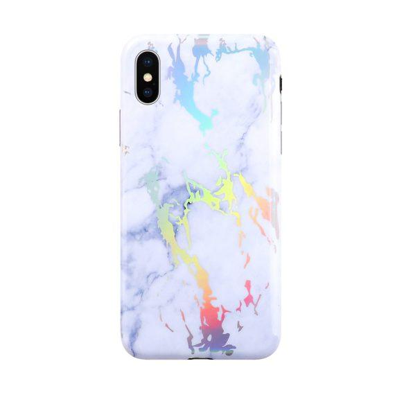Etui do Iphone X/XS laser gradient białe