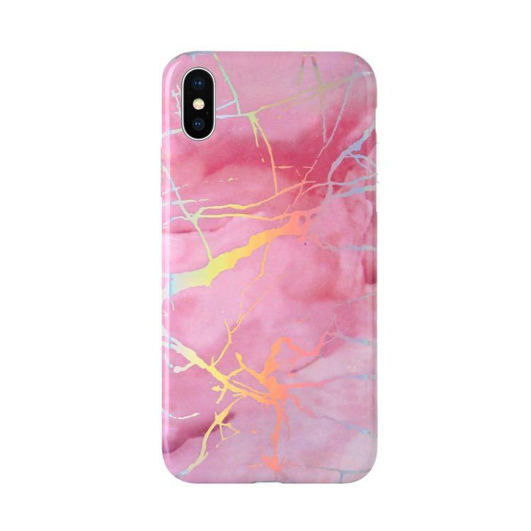Mock Up Etui Iphone X Xs Hologram Rozowy