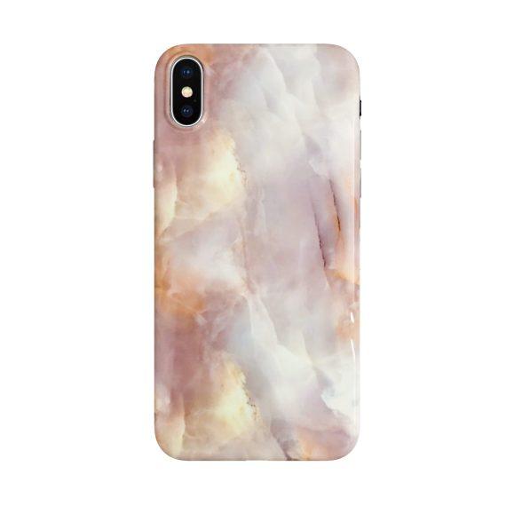 Etui do Iphone X silikonowe, ceglasty marmur