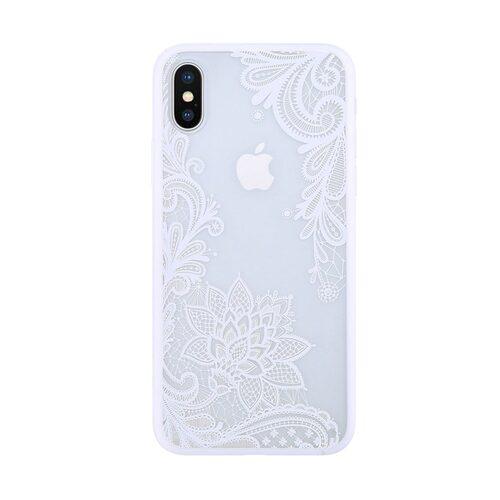 Etui Ihpone X Xs Koronka Kwiat Biały 5 Scaled
