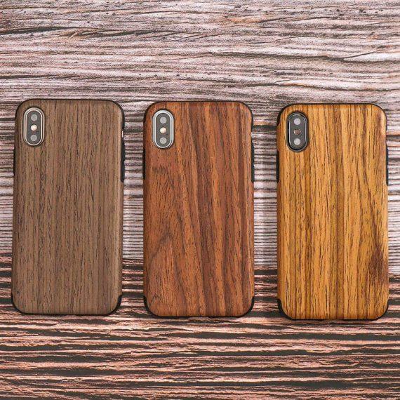 Etui Iphone X Xs Drewno 2