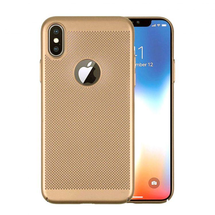 Etui Iphone X Xs Oddychające Złote