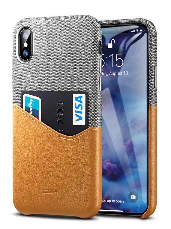 Etui Iphone X Xs Skorzane Z Kieszonką