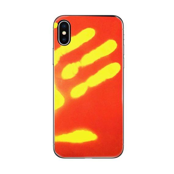 Etui do Iphone X/XS termiczne czerwone termo zmiana koloru