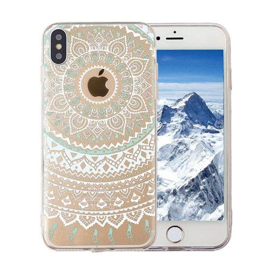 Etui do Iphone X/XS magiczna biała mandala