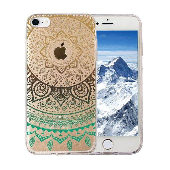 Etui do iPhone SE2020/8/7 silikonowe przezroczyste ze wschodnim wzorkiem