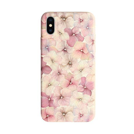 Etui do Iphone X/XS silikonowe kwiatowe