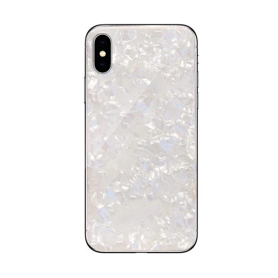 Etui do Iphone X/XS nietuzinkowe białe kryształowe