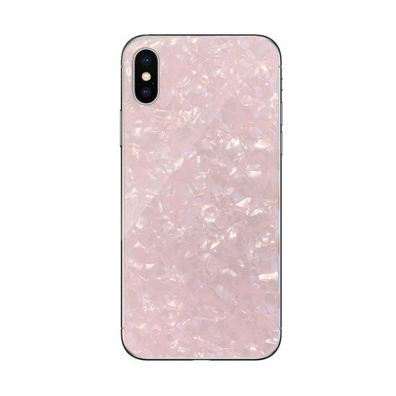 Etui do Iphone X/XS eleganckie różowe kryształowe