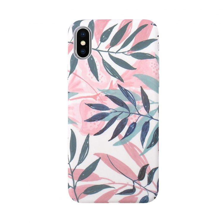 Mock Up Etui Iphone Z Liściami Palmy X Xs