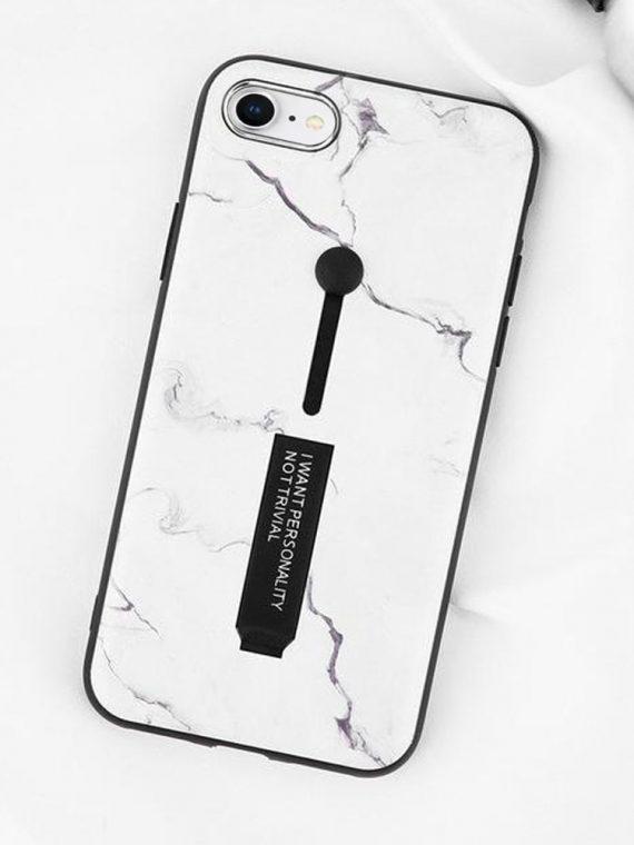 Etui Iphone 7 8 Biały Marmur Z Uchwytem 2