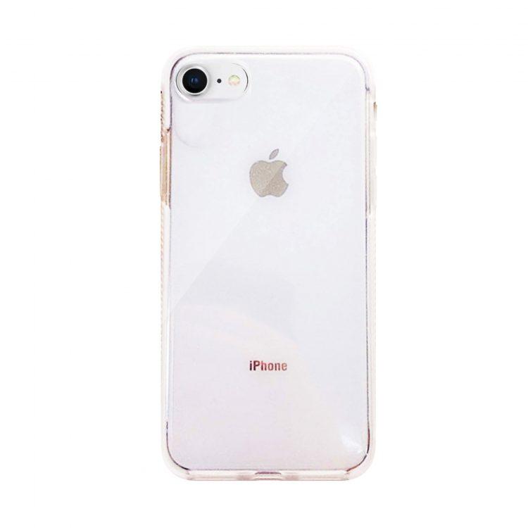 Etui Iphone 7 8 Brokat Przezroczyste Białe Boki
