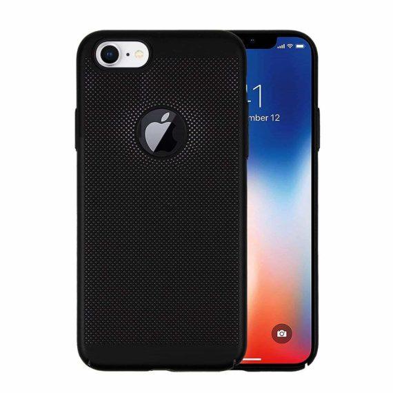 Etui Iphone 7 8 Oddychające Czarne