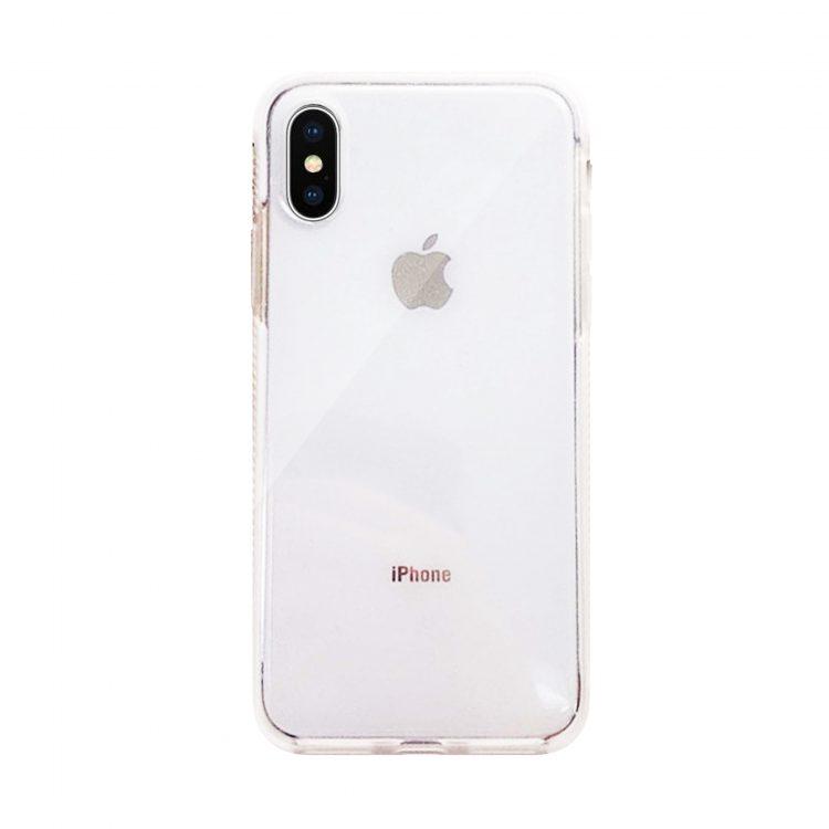 Etui Iphone X Xs Brokat Przezroczyste Biale Boki