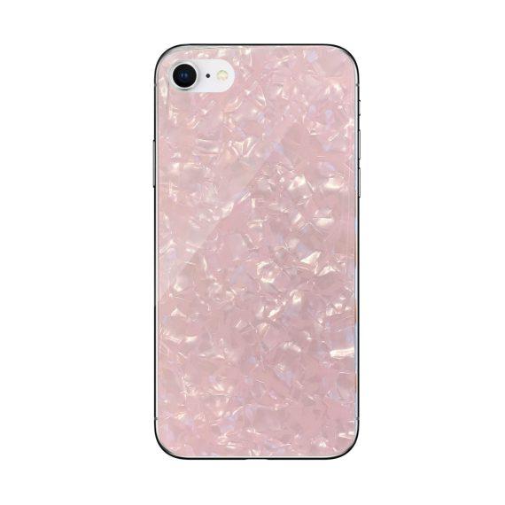 Etui do iPhone SE2020/8/7 eleganckie perłowe kryształowe różowe