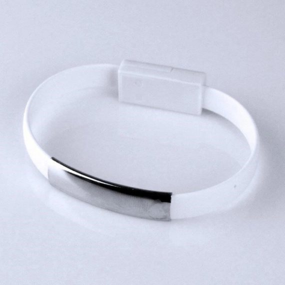 Kabel USB > Lightning iPhone Bransoletka biała