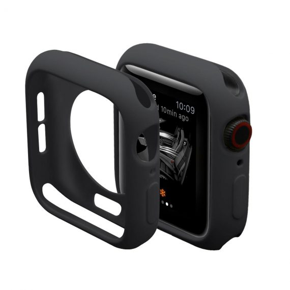 Silikonowe etui / obudowa do zegarka Apple Watch 4/5 40 mm – kolor czarny