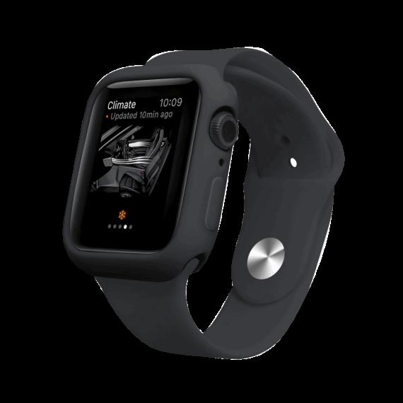 Silikonowy zestaw pasek i etui obudowa do zegarka Apple Watch 6/5/4/SE 40 mm – kolor czarny