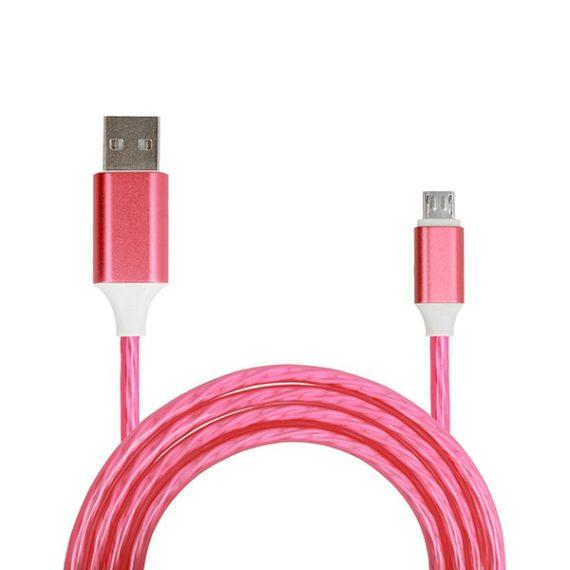 Kabel USB – FLOW Micro USB 1 Metr czerwony (fast charge)