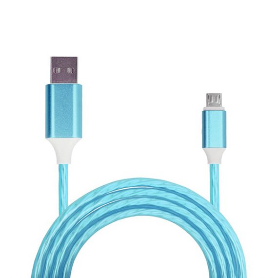 Kabel USB – FLOW Micro USB 1 Metr niebieski (fast charge)