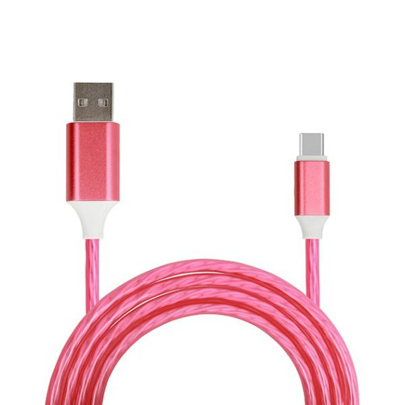 Kabel USB – FLOW USB Typ C 1 Metr CZERWONY (fast charge)