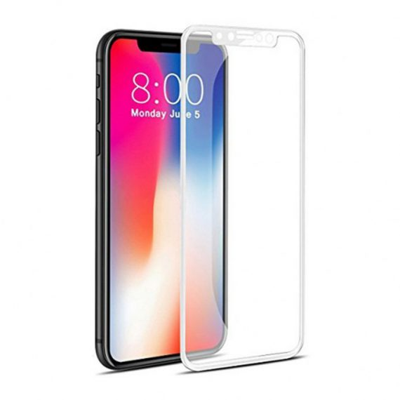 Hartowane szkło Full Glue 5D IPHONE X / XS (5,8″) BIAŁY