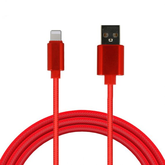Kabel USB – FLOW Iphone SE/8/X/XR / XS/11/12 Lightning ładowarka iPhone 1 Metr CZERWONY fast charge
