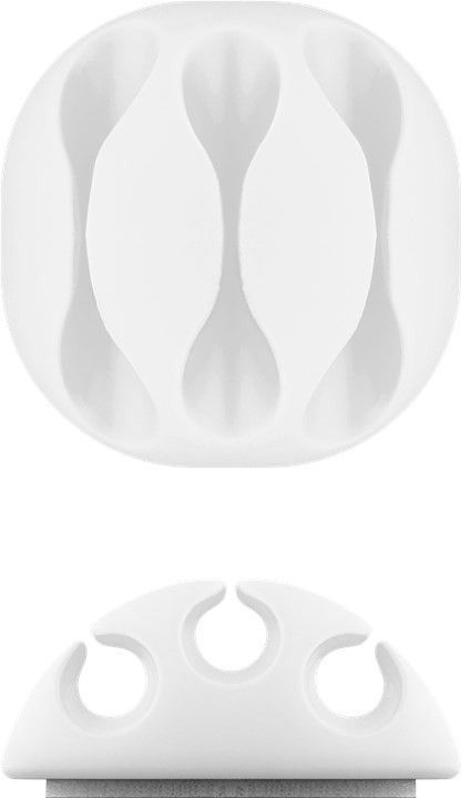 Organizer na kable w kolorze białym