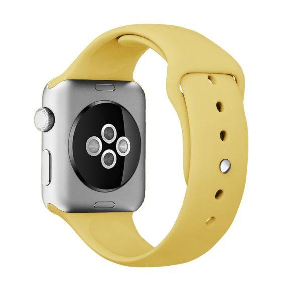 Pasek Silikonowe Na Zegarek Apple Watch Zolty 2