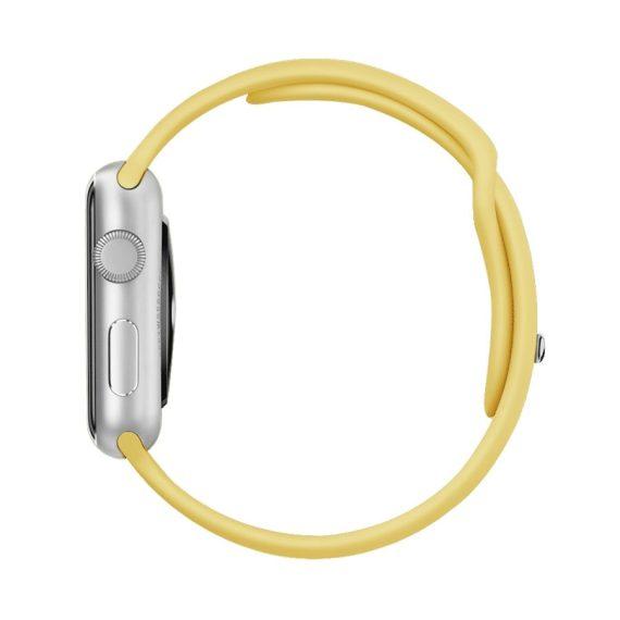 Pasek Silikonowe Na Zegarek Apple Watch Zolty 3