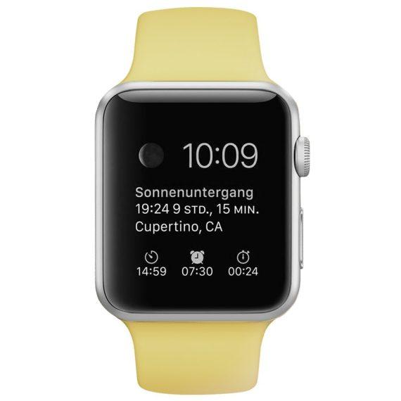 Pasek Silikonowe Na Zegarek Apple Watch Zolty 4
