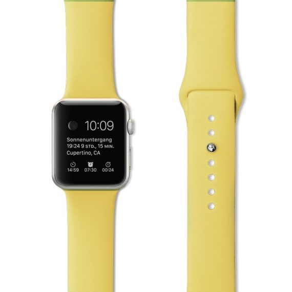 Pasek Silikonowe Na Zegarek Apple Watch Zolty 5