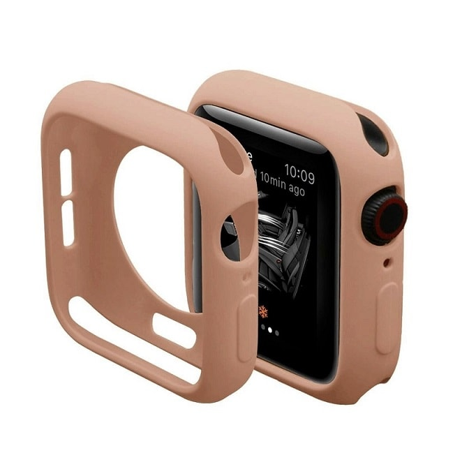 Pink Silicone Apple Iwatch Etui 3 Zmiana