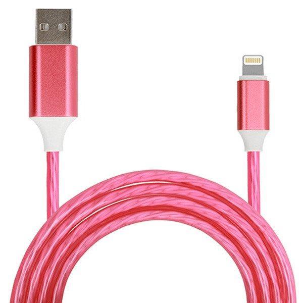Pol Pl Kabel Usb Lightning Flow Iphone 5 Se 6 6s 7 8 X O Dlugosci 1m W Kolorze Czerwonym 134561 1