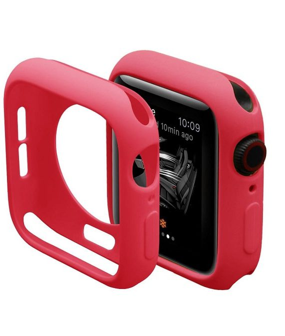 Red Silicone Apple Iwatch Etui 3 Zmiana