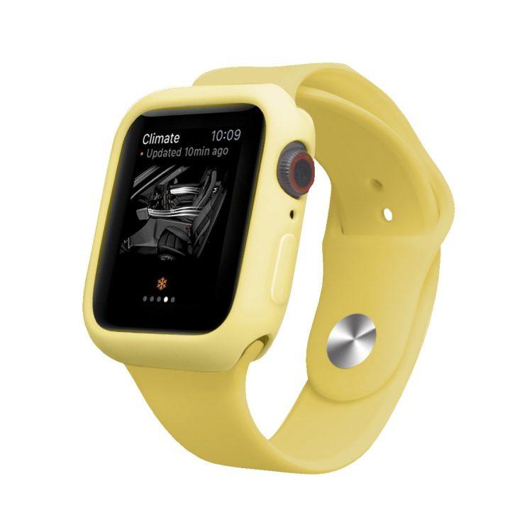 Silikonowa Obudowa Do Apple Watch Zolty 1
