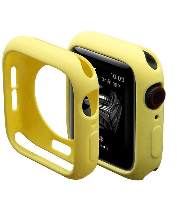 Yellow Silicone Apple Iwatch Etui 3 Zmiana
