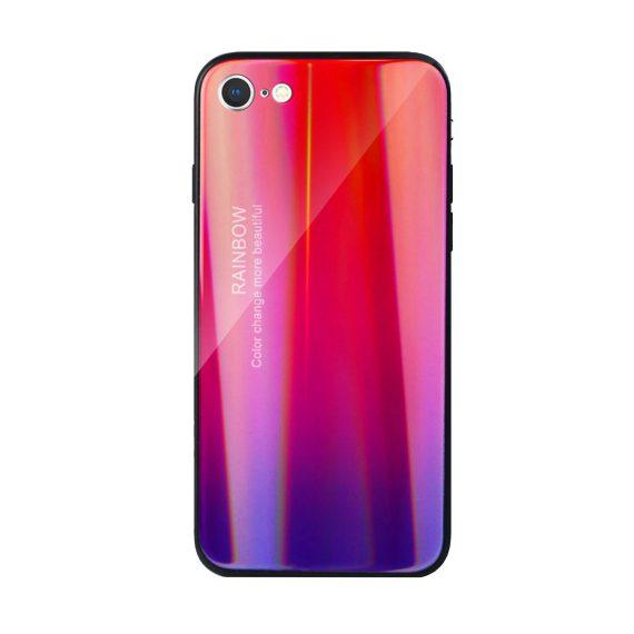 Etui do iPhone SE2020/8/7 – szkło hartowane czerwono-fioletowe